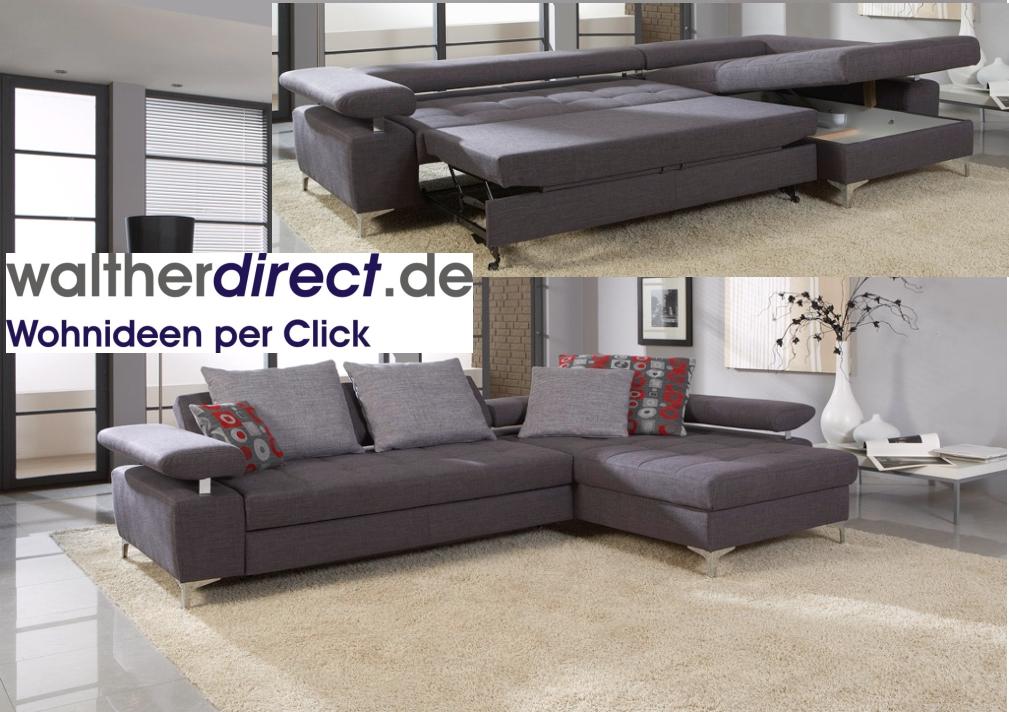 modernes ecksofa mexiko mit schlaffunktion bettkasten ebay. Black Bedroom Furniture Sets. Home Design Ideas