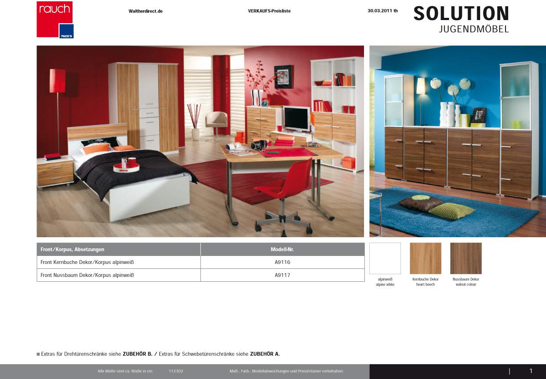 Modernes 7tlg jugendzimmer solution von rauch packs ebay for Jugendzimmer zusammenstellen