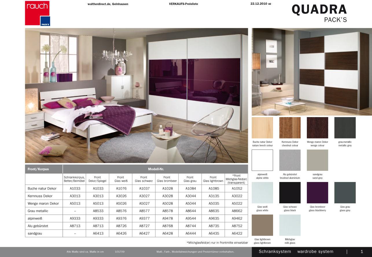 Schlafzimmer Quadra : Details zu Modernes 2 tlg Schlafzimmer Quadra von Rauch Packs