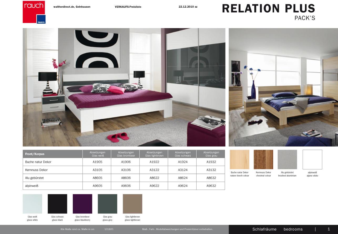 modernes bett relation plus von rauch ebay. Black Bedroom Furniture Sets. Home Design Ideas