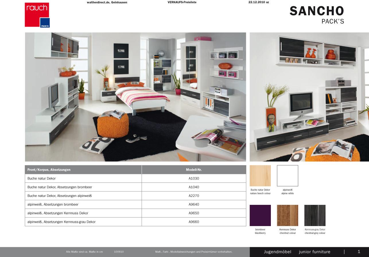 Modernes 4tlg jugendzimmer sancho von rauch packs ebay for Jugendzimmer 4tlg