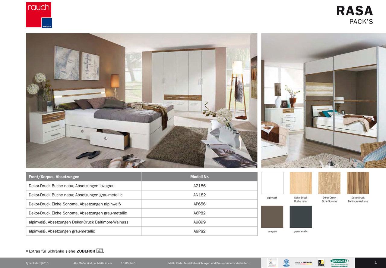 modernes schlafzimmer rasa von rauch packs. Black Bedroom Furniture Sets. Home Design Ideas