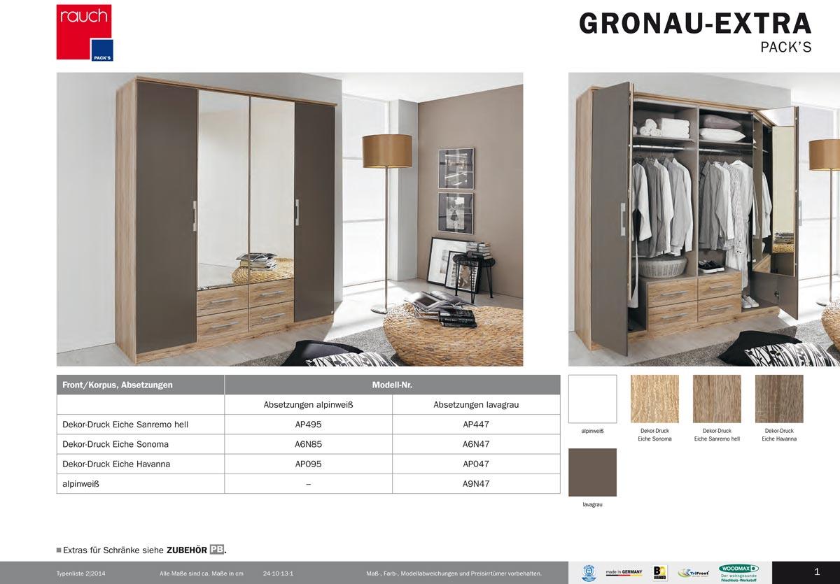 Moderner Kleiderschrank Gronau-Extra von Rauch Packs-10772