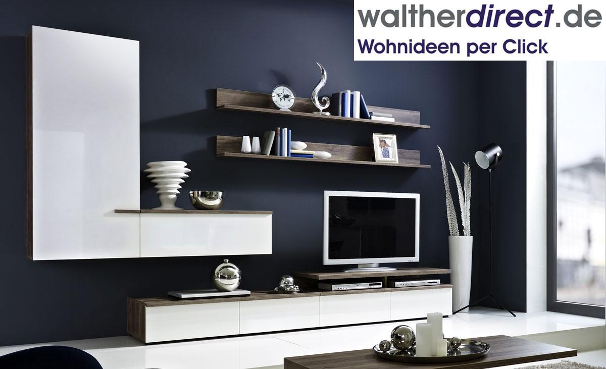 wohnwand linea w von arte m schrankwand anbauschrank ebay. Black Bedroom Furniture Sets. Home Design Ideas