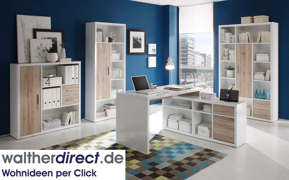 modernes b ro tokyo schreibtisch regal highboard sideboard sofort lieferbar ebay. Black Bedroom Furniture Sets. Home Design Ideas