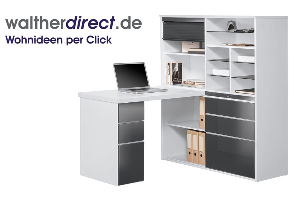 minioffice 126 6x150x187 cm von maja m bel schreibtisch computertisch ebay. Black Bedroom Furniture Sets. Home Design Ideas