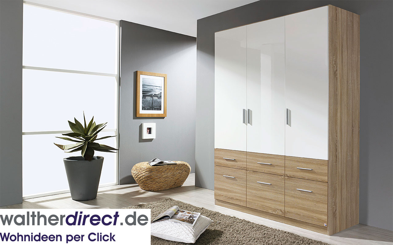 moderner dreht renschrank celle extra von rauch packs 3 t rig kleiderschrank ebay. Black Bedroom Furniture Sets. Home Design Ideas
