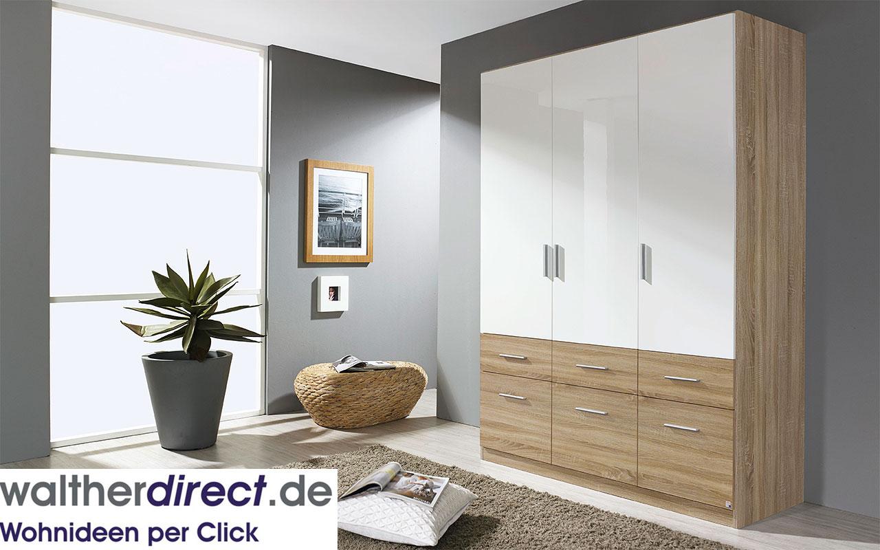moderner dreht renschrank celle extra von rauch packs 3 t rig kleiderschrank ebay. Black Bedroom Furniture Sets. Home Design Ideas