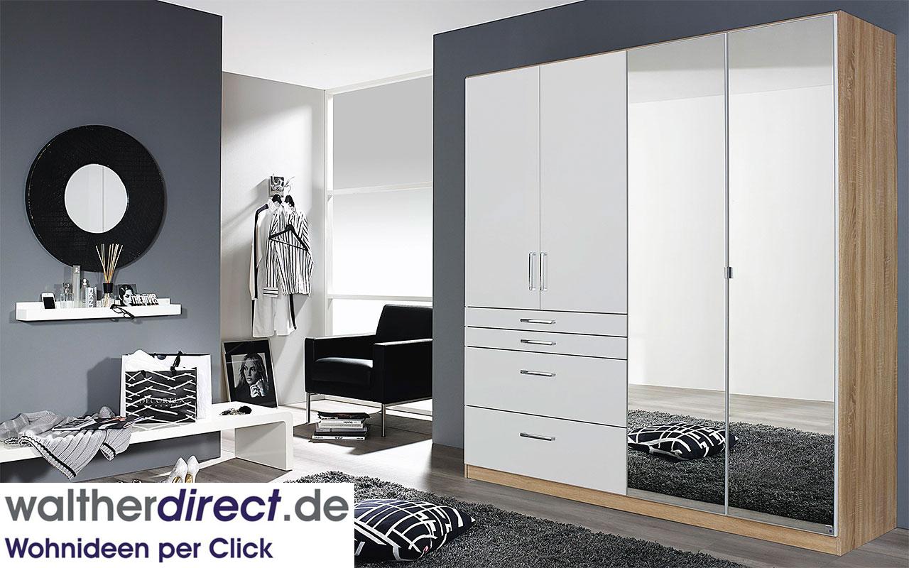 moderner dreht renschrank homburg von rauch packs kleiderschrank schrank ebay. Black Bedroom Furniture Sets. Home Design Ideas