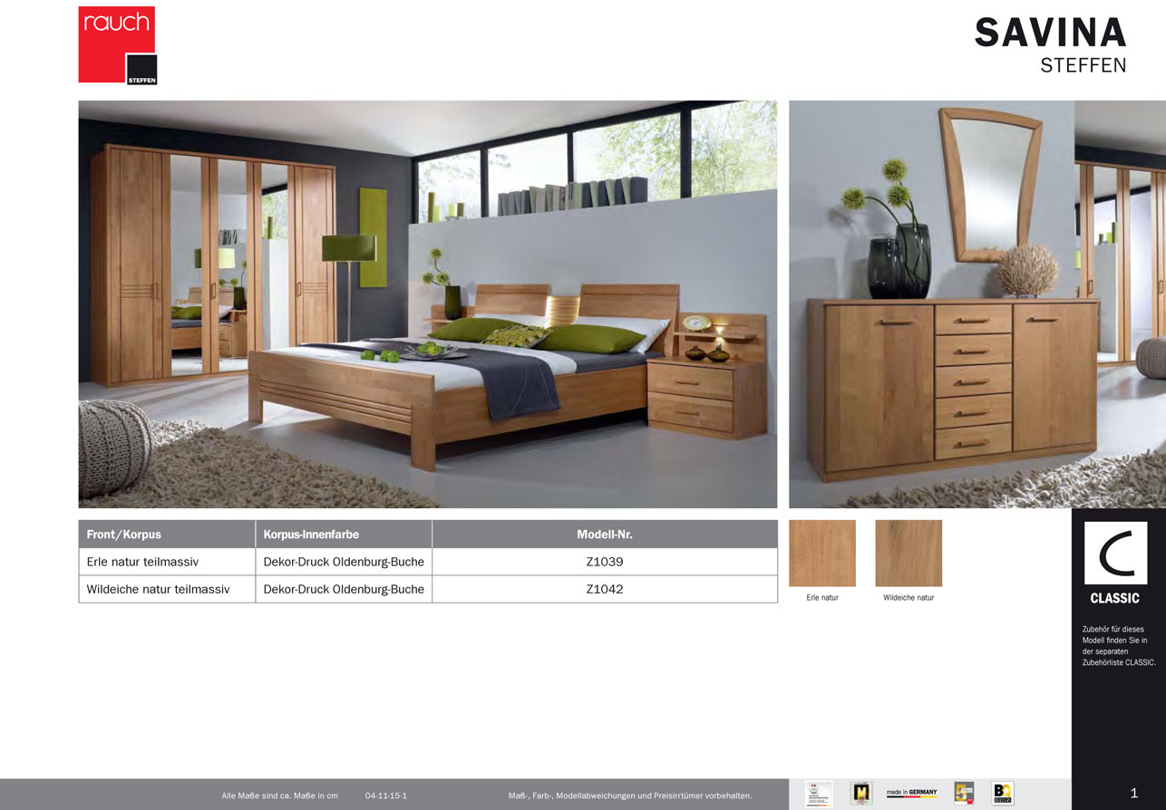 modernes schlafzimmer savina von rauch steffen ebay. Black Bedroom Furniture Sets. Home Design Ideas