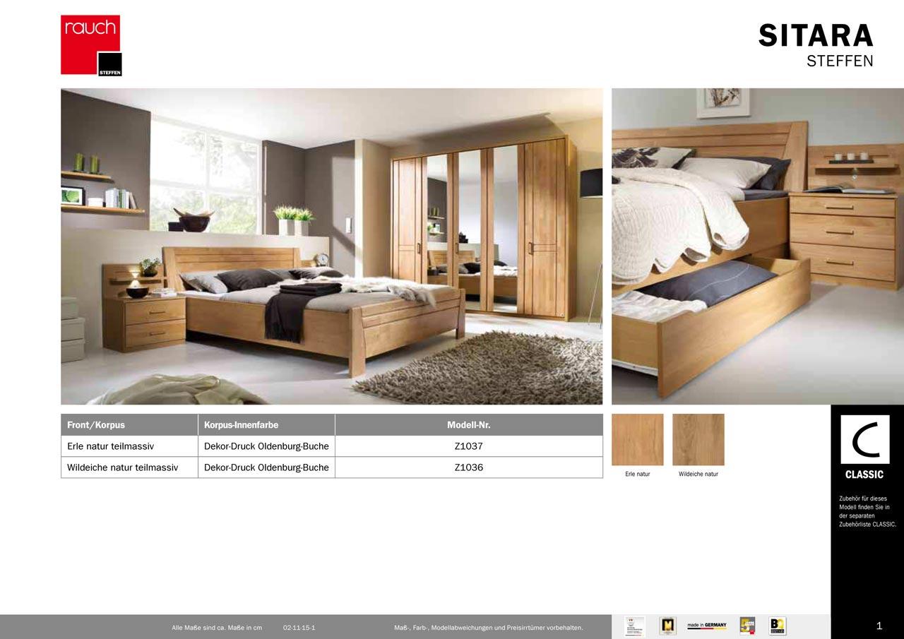 modernes schlafzimmer sitara von rauch steffen ebay. Black Bedroom Furniture Sets. Home Design Ideas
